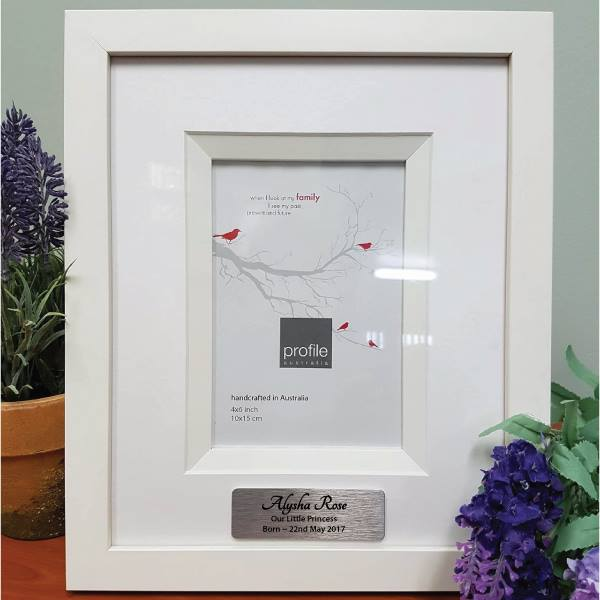 Image of Baby Photo Frame with Personalised Message{empty_space}
