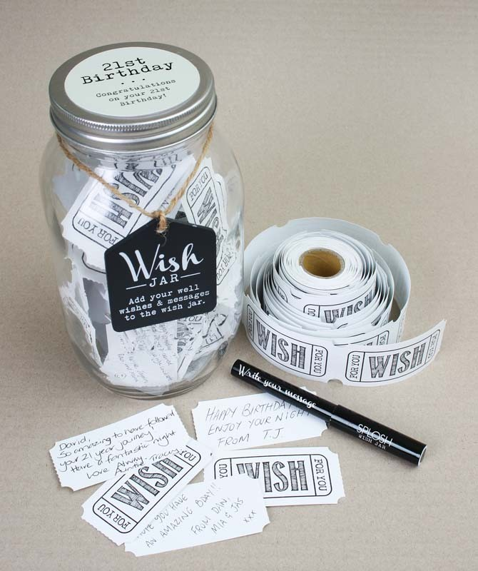 Image of 21st Birthday Wish Jar Guest Book{empty_space}