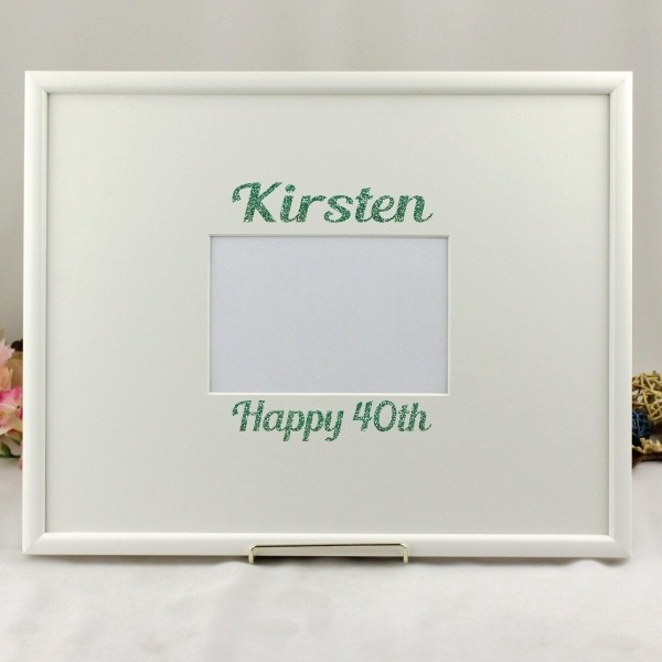 Image of 40th Birthday Vinyl Glitter Signature Frame{empty_space}
