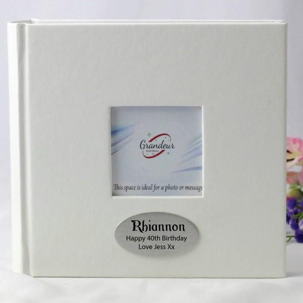 Image of 40th Birthday White 100 Photo Album - Personalised{empty_space}