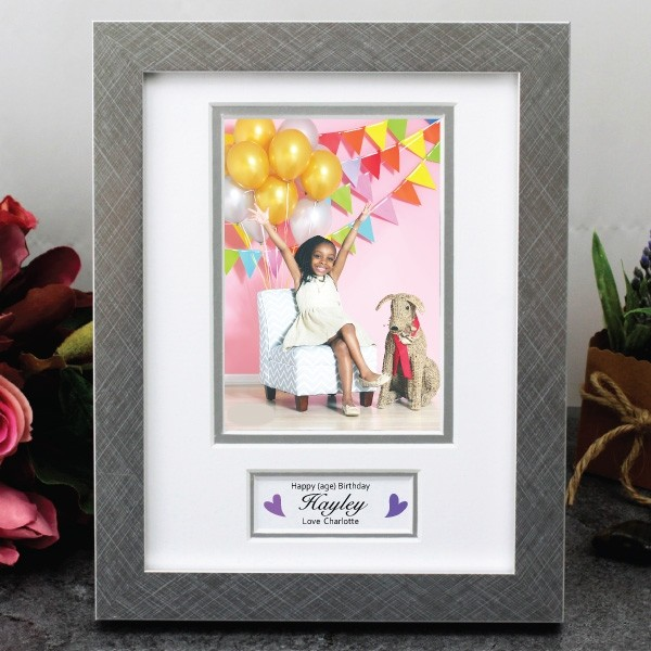 Image of Birthday Photo Frame with Message{empty_space}