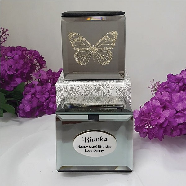 Image of 40th Birthday Butterfly Mini Trinket Box{empty_space}