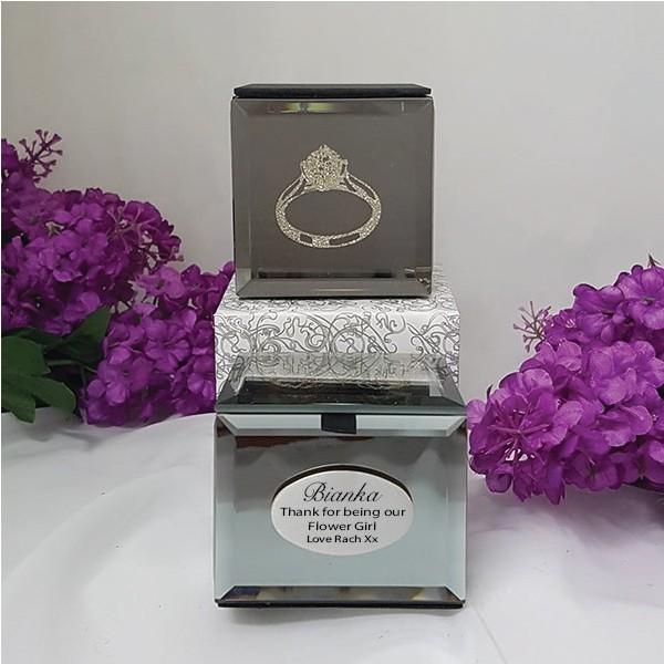Image of Flower Girl Mini Ring Trinket Box{empty_space}