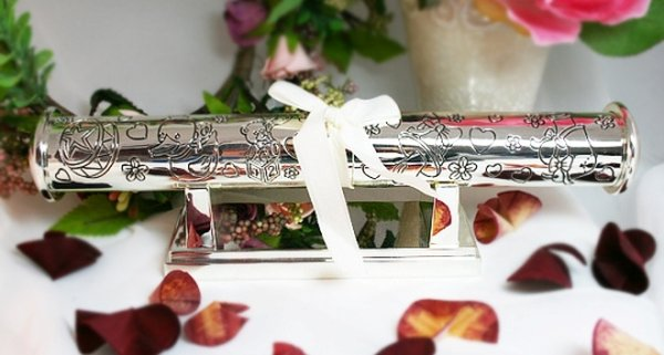Image of Baby Birth Certificate Holder - Silver Plated{empty_space}