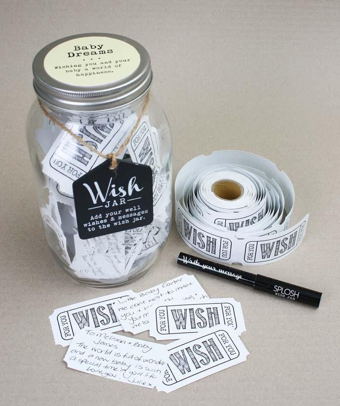 Image of Baby Dreams Wish Jar Guest Book{empty_space}