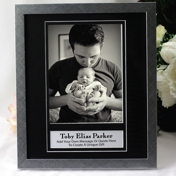 Image of Personalised Baby 5x7 Black Photo Frame{empty_space}