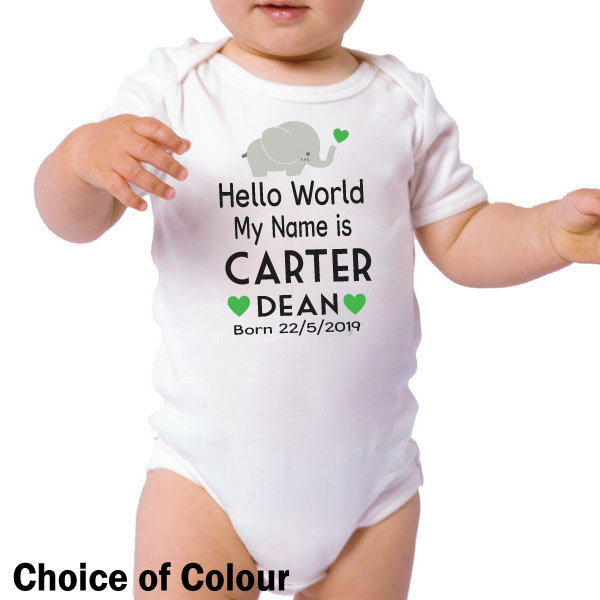 Image of Welcome Baby Personalised Bodysuit{empty_space}