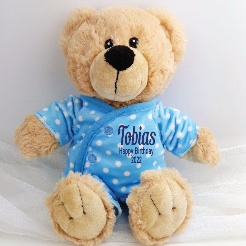 Image of Personalised Newborn Bear -Blue{empty_space}