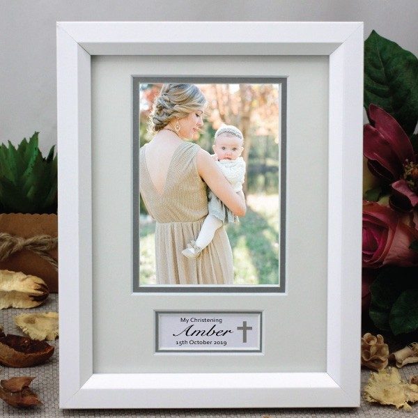 Image of Personalised Christening Photo Frame{empty_space}