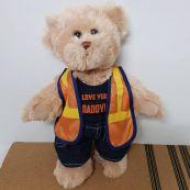 Dad Personalised Tradie Teddy Bear