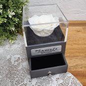 Everlasting White Rose 13th Jewellery Gift Box