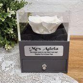 Everlasting White Rose Teacher Jewellery Gift Box