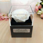 Everlasting White Rose Graduation Jewellery Gift Box