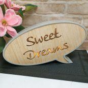 Sweet Dreams Rustic LED Convo Bubble
