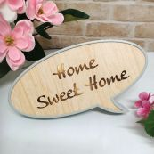 Home Sweet Home Rustic LED Convo Bubble