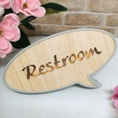 Rest Room Rustic LED Convo Bubble