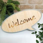 Welcome Rustic LED Convo Bubble