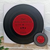 Dad Replica Vinyl Record LED Wall Hanging & Coaster - Boys Back