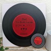 Dad Replica Vinyl Record LED Wall Hanging & Coaster - Got Me