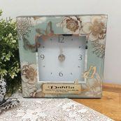 Personalised Glass Desk Clock - Vintage Gold