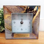 70th Birthday Glass Desk Clock - Treasure Trove