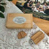 Anniversary USB flash drive 64GB  with Bamboo Box