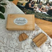 Personalised USB flash drive 64GB  with Bamboo Box