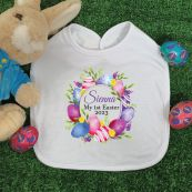 Personalised Easter Bib - Easter Eggs