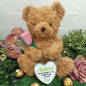 Valentines Bear with Rose and Heart Tin