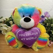 You Colour My World Rainbow Bear