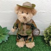 Army Bear with Personalised Badge Plush 30cm