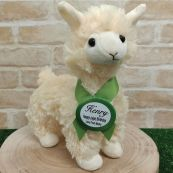 Llama Plush with Birthday Badge