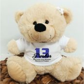 13th Teddy Bear Cream Personalised Plush
