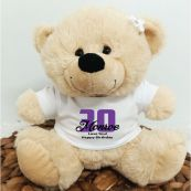 30th Teddy Bear Cream Personalised Plush