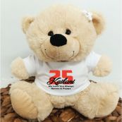 Birthday Teddy Bear Cream Personalised Plush