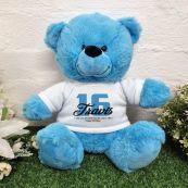 16th Birthday Bear Bright Blue Plush 30cm