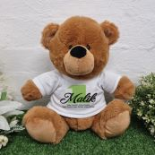 Personalised 1st Birthday Bear Brown Plush 30cm