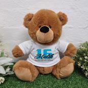 Personalised 16th Birthday Bear Brown Plush 30cm