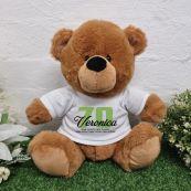 Personalised 70th Birthday Bear Brown Plush 30cm