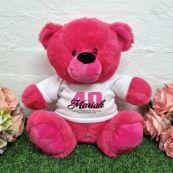 40th Birthday Bear Hot Pink Plush 30cm