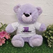1st Birthday Bear Lavender Plush 30cm
