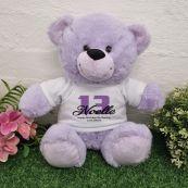 13th Birthday Bear Lavender Plush 30cm