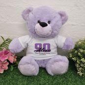 90th Birthday Bear Lavender Plush 30cm