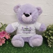 13th Birthday party Bear Lavender Plush 30cm