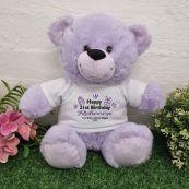 21st Birthday party Bear Lavender Plush 30cm