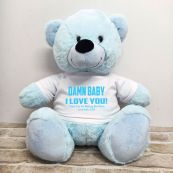 Naughty Love You Valentines Bear - 40cm Light Blue