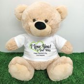Valentines Bear Love Your Naughty Bits - 40cm Cream
