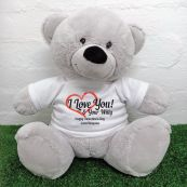 Valentines Bear Love Your Naughty Bits - 40cm Grey