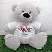 Valentines Bear Love Your Naughty Bits - 40cm Grey