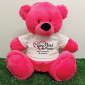 Valentines Bear Love Your Naughty Bits - 40cm Hot Pink